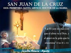TRATAR ENTRE AMIGOS: ¡¡¡Fiesta de San Juan de la Cruz, patrono de las CM de Argentina!!!