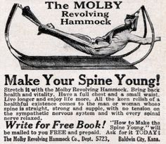 The Molby Revolving Hammock :: make your spine young! (1922)