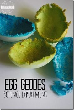 Egg geodes science experiment simple science fun great science