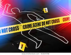 Crime Scene Do Not Cross Chalk Stock Vector (Royalty Free) 453970798