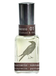 TokyoMilk Poe's Tobacco Perfume at PLASTICLAND Tokyo Milk's Poe's Tobacco #1 perfume is a wickedly sensual fragrance featuring top notes of Tobac, Tea Leaves, Amberwood & Autumn Apple. Perfect for a twilight rendezvous.