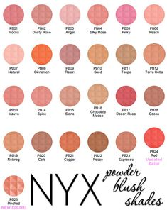 Our Powder Blush shades are perfect for contouring.