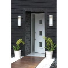 August is outdoor lighting month so Check out these inspiration galleries to get the creative juices flowing. Now is the time to replace your outdoor lighting before winter. Nothing raises your curb appeal faster! Outdoor Wall Sconce, Outdoor Wall Lighting, Outdoor Walls, Lighting Ideas, Task Lighting, Exterior Paint, Exterior Design, Interior And Exterior, Grey Exterior