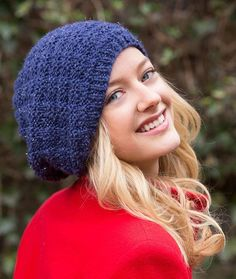 Basketweave Sparkle Knit Beanie Pattern