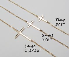 Cross Necklace Sideways As seen On Kelly Ripa Gold by gemsinvogue, $34.00