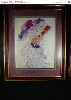 Jessica, my Aunt Bettie Hebert Felder painted this picture of my then 14 year old daughter. She sold over 1 million copies. So special to my heart! Victorian Decor, Victorian Homes, Victorian Ladies, Frame Wall Decor, Frames On Wall, Home Interiors And Gifts, Female Pictures, Painter Artist, Christmas In July