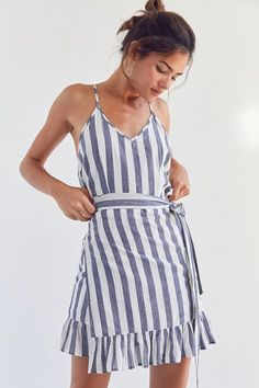 Vetiver Ali Striped Wrap Dress   teenage fashion style vacation beach college summer + spring womens outfits casual romper         Disclosure: Please note the link is an affiliate link which means-at zero cost to you-I might earn a commission if you buy something through my links. (scheduled via http://www.tailwindapp.com?utm_source=pinterest&utm_medium=twpin&utm_content=post203130971&utm_campaign=scheduler_attribution)