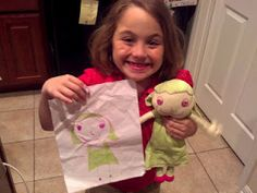 Etsy shop that makes stuffed animals from your child's drawings!  I am SOOOO getting one of these for Austin!!