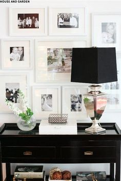 Styling with monochrome frames.#LivingRoomDecor