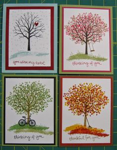 Stampin' Up! Inspirationen Stampin' on the Prairie: Sheltering Tree - 4 Seasons Stampin' Up! Stampin Up, Stamping Up Cards, Marianne Design, Thanksgiving Cards, Fall Cards, Sympathy Cards, Heartfelt Creations, Up Girl, Creative Cards