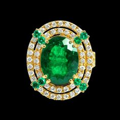 6.58ct COLUMBIAN EMERALD 18K YELLOW GOLD RING, Lot Number: 40350V, Starting Bid: $3,000, Auctioneer: VDG JEWELRY INC., Auction: Fine Jewelry, Date: January 12th, 2017 GMT