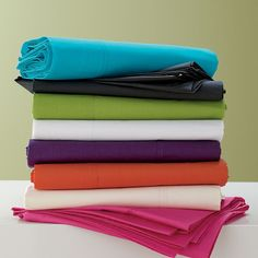 4-Piece Twin XL Classic Percale Sheets Set / Dorm Bedding | The Company Store #E5J2 $20.99