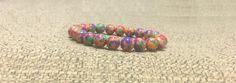 6mm Multicolor Howlite Gemstones Stretch Tibetan Bracelet, Healing Chakra Meditation Protection Yoga mala Lucky Zodiac Gemini Bracelet by ArtGemStones on Etsy