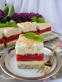 Polish Recipes, Polish Food, Summer Cakes, Vanilla Cake, Ale, Sandwiches, Cheesecake, Food And Drink, Sweets