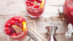Cranberry Moonshine Punch. I'd use vodka instead of moonshine. A colorful and fruity punch packed with cranberries and citrus.