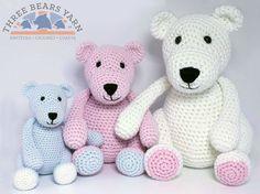 Corazón & Sew: Los tres osos - Crochet libre / Patrón Amigurumi