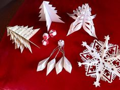 Unique paper ornaments