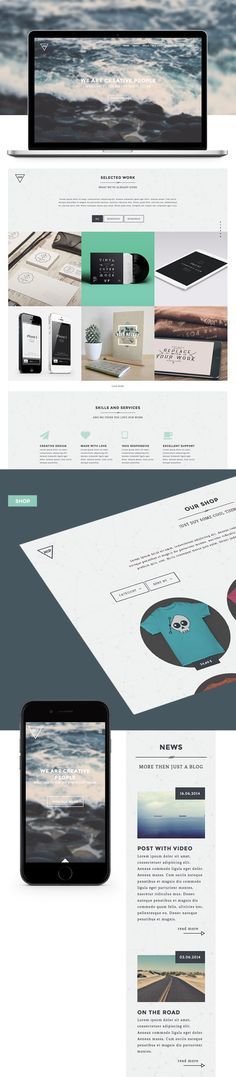 Hip – Creative One Page WordPress Theme