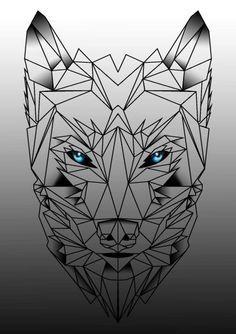 nice Geometric Tattoo - geometric wolf tattoo - Google Search                                           ...