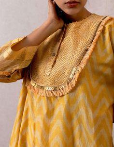 Comfortable Outfits, Stylish Outfits, Gota Patti Suits, Yellow Kurti, Netted Blouse Designs, Kurta Neck Design, Stylish Blouse Design, Pakistani Wedding Outfits, Creative Shirts