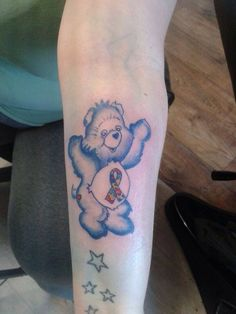 Autism Care Bear Tattoo
