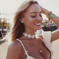 Gorgeous @bryanaholly enjoying day 2 of Coachella in our Rivi Lariat BY Long Lost Jewelry