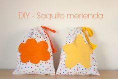 TUTORIAL - COMO HACER EL SAQUITO DEL COLE DE LOS PEQUES | La mar de ideas DIY Small Sewing Projects, Diy Projects To Try, Sewing Crafts, February Baby, Ideias Diy, Boho Bags, Kids Bags, Cute Bags, Goodie Bags