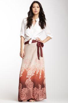 Boheme Silk Woven Wrap Skirt <3