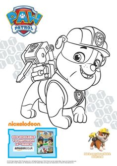 Paw Patrol Pups and the Pirate Treasure Colouring Page Printables and DVD Giveaway - In The Playroom