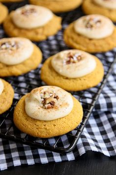 Melt-In-Your-Mouth Pumpkin Cookies. Made these - cookies are great but I didn't love the icing (too much butter flavor). Find something else - cream cheese?