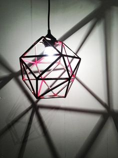 Geometric lighting pendant with a modern twist