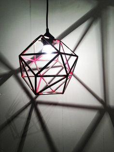 Geometric lighting pendant with a modern twist