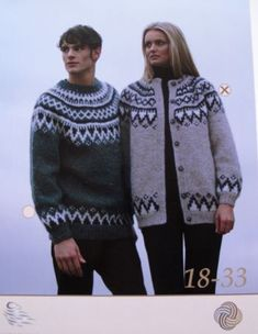 Pattern code 18 - 32 Great mens pattern knitted in the round with Knitting Designs, Knitting Patterns Free, Knit Patterns, Icelandic Sweaters, Fair Isle Pattern, Knit In The Round, Fair Isle Knitting, Sweater Design, Cool Sweaters