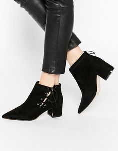 ASOS | ASOS RONNY Pointed Lace Up Ankle Boots at ASOS