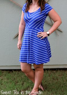 Spencer Striped Jersey Dress by Market and Spruce ($54) -- Sweet Tea in the South