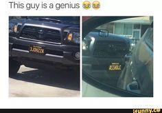Funny license plate lol