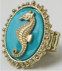 love seahorses & gold!
