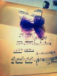One of my favorite Pinterest inspired creations- musical wedding dress bridal shower invitations. Open up the dress for the shower information and invite! Perfect for my clarinet-mastered cousin's shower next month!