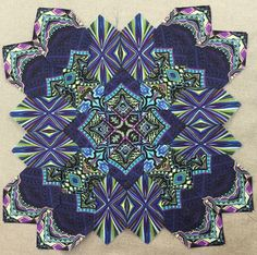 My first all fussy cut block using Paula Nadelstern's fabrics. Paper Pieced Quilt Patterns, Quilt Block Patterns, Quilt Blocks, Quilting Tips, Quilting Projects, Jersey Quilt, Millefiori Quilts, Cross Quilt, Sampler Quilts