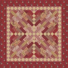 """Rue Indiennes quilt pattern being debuted at 2014 Spring Market. Features new fabric line by French General """"Rue Indiennes""""."""