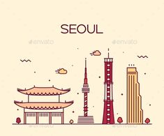 Buy Seoul City Skyline Trendy Vector Line Art Style by gropgrop on GraphicRiver. Seoul City skyline detailed silhouette Trendy vector illustration line art style City Illustration, Medical Illustration, Digital Illustration, Seoul Skyline, City Vector, Skyline Silhouette, Learn Korean, Korean Art, Travel