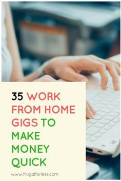 Want to earn cash fast and earn cash from home? Read on for 35 work from home gigs that pay you once a week or daily. All of these work from home opportunities are 100% free to register for and are all fairly simple to use. Some of them are surveys that pay while others are actually full-time or part-time jobs online. www.frugalforless...