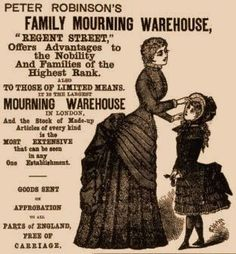 """Mourning Clothing, known as """"widow's weeds"""""""