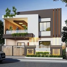 Loft House Design, 3 Storey House Design, Architect Design House, House Gate Design, Home Building Design, Bungalow House Design, House Front Design, Modern Exterior House Designs, Modern Small House Design
