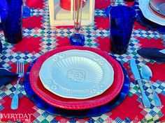 Tablescape Tuesday: Broad Stripes & Bright Stars   Everyday Living