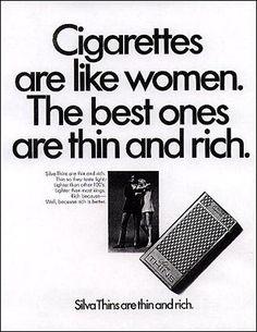 #Cigarettes vintage ad... sexist