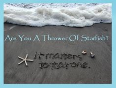 The Middle School Counselor: Are You A Thrower of Starfish?