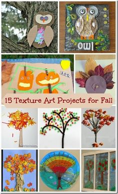 15 Textured Art Projects for Kids #preschool #fallcraftsforkids #art