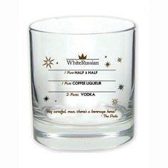 Pin for Later: The Ultimate Gift Guide For the '90s Pop Culture Fan  The Big Lebowski White Russian Glass ($10)