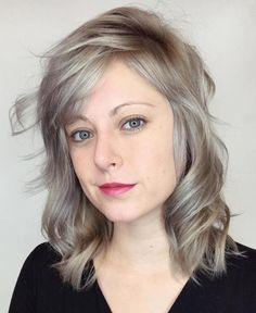 Ash Blonde Medium Hairstyle